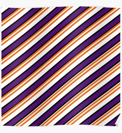 Team Colors 3...Purple,orange,black,white Poster
