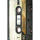 Retro Cassette Tape - iphone case by Carol Knudsen