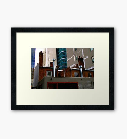 Juxtaposition : Contemporary Melbourne Architecture Framed Print