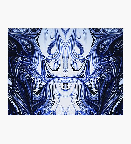 Blue Oil Gestalt Abstract I Photographic Print