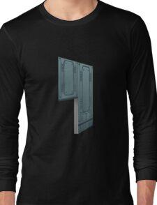 Glitch Homes Wallpaper spaceship left divide Long Sleeve T-Shirt