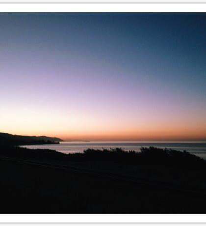 The Last Light Over the Open Sea Sticker