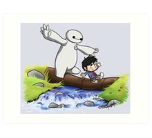 Hiro and Baymax Art Print