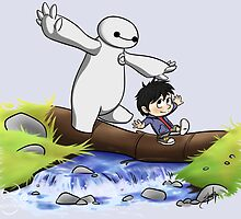 Hiro and Baymax by midnightpremier