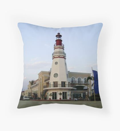The Lighthouse, Subic Freeport Throw Pillow
