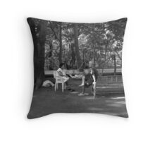 Under the Shade of Trees Throw Pillow