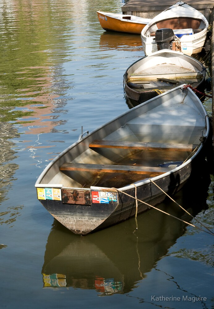 Boat reflection by Katherine Maguire