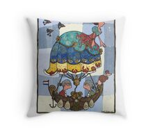 Windje van zee Throw Pillow