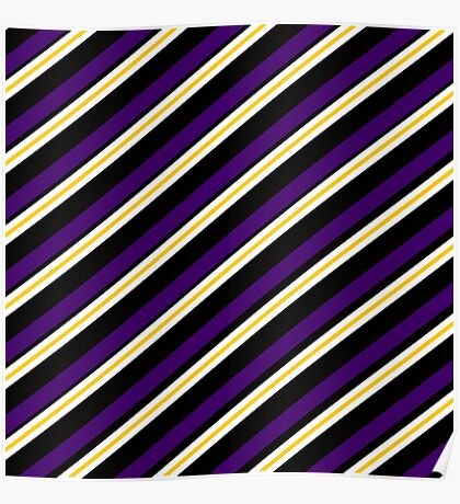 Team Colors 3...Purple,yellow,black and white Poster