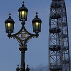 Light and London eye by alan tunnicliffe