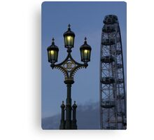 Light and London eye Canvas Print