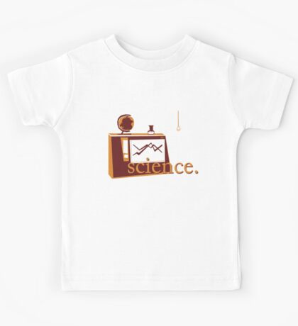 This is the one that says 'science', and has pictures of science, on a green background. Kids Tee