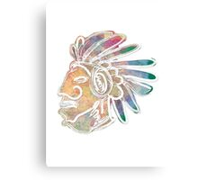 Mayan Chief Canvas Print
