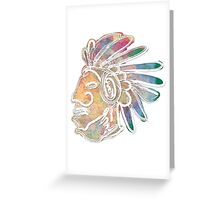 Mayan Chief Greeting Card