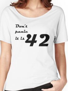 hitchhiker's guide to the galaxy Women's Relaxed Fit T-Shirt