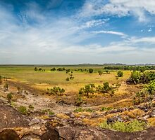 Ubirr Views Panorama by Russell Charters