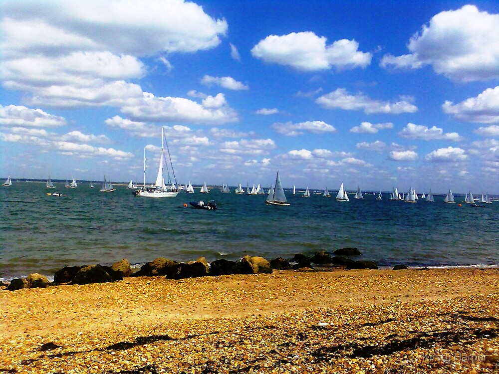 Yachts in East Cowes by Kirsty Harper