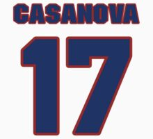 National baseball player Raul Casanova jersey 17 by imsport