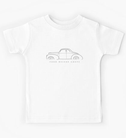 1940 Ford Deluxe Coupe - Profile stencil, black Kids Tee