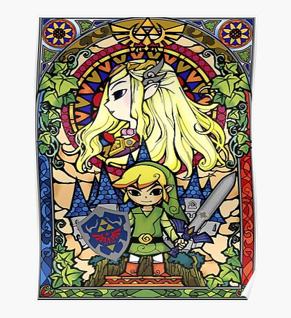 Stained Glass Legend Poster