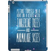 The Beatles -  Lucy in the Sky With Diamonds - Lyric Poster iPad Case/Skin