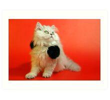 Cute cat 1 Art Print
