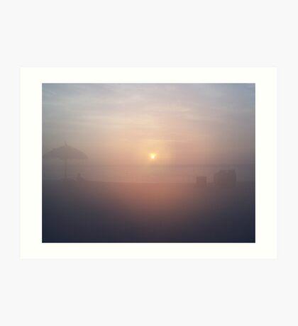 Foggy lens Art Print