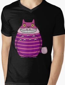 Cheshire Totoro Mens V-Neck T-Shirt