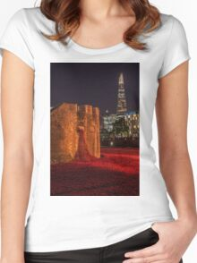 A night at the Tower Women's Fitted Scoop T-Shirt