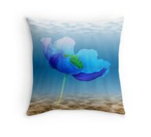 Water flower Throw Pillow