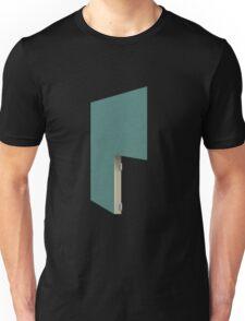 Glitch Homes Wallpaper tealgreen stucco right divide Unisex T-Shirt