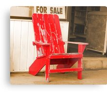 Red Chair Metal Print