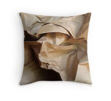 Paper Bag Throw Pillow