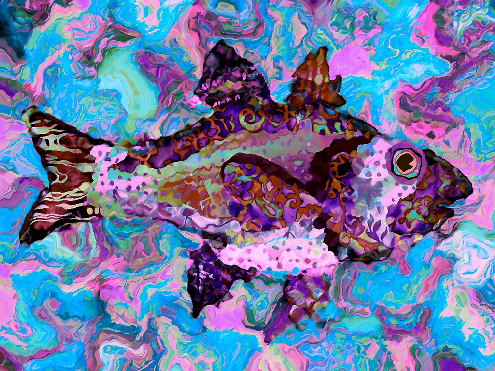 Batik Fish 1 by DigitalMuse