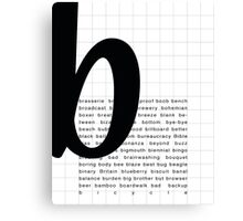 Art Print - Words with Letter B - Words and Letters Typography Canvas Print