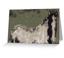 ELEGANT HORSE Greeting Card