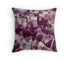 Faces of young soccer players.  Throw Pillow