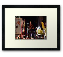 A Broadway View Framed Print