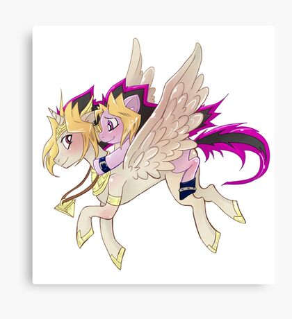 My little pony Yu-Gi-Oh! Canvas Print