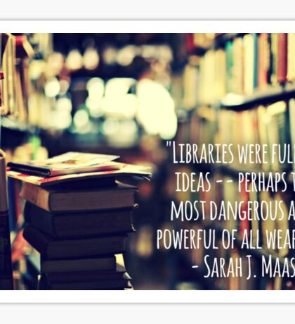 Libraries are weapons Sticker