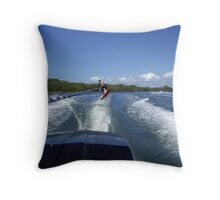 Wakeboarding Throw Pillow