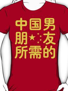 Looking for a Chinese Boyfriend ~ Hanzi Chinese Language T-Shirt