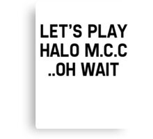Halo Master Cheif Collection Canvas Print