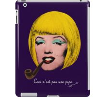 Bob Marilyn Monroe with surreal pipe iPad Case/Skin