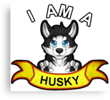 I Am A Husky! Canvas Print