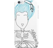The girl with heart mouth iPhone Case/Skin