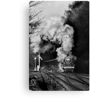 Steaming into Goathland Canvas Print