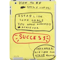 HOW TO BE SUCCESSFUL iPad Case/Skin