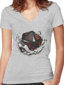 CRITICAL FAILURE Women's Fitted V-Neck T-Shirt