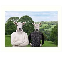Sheep People Art Print